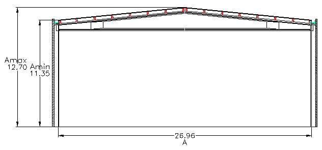 C mo calcular la pendiente de un tejado con el ancho y la for Caidas de agua para techos