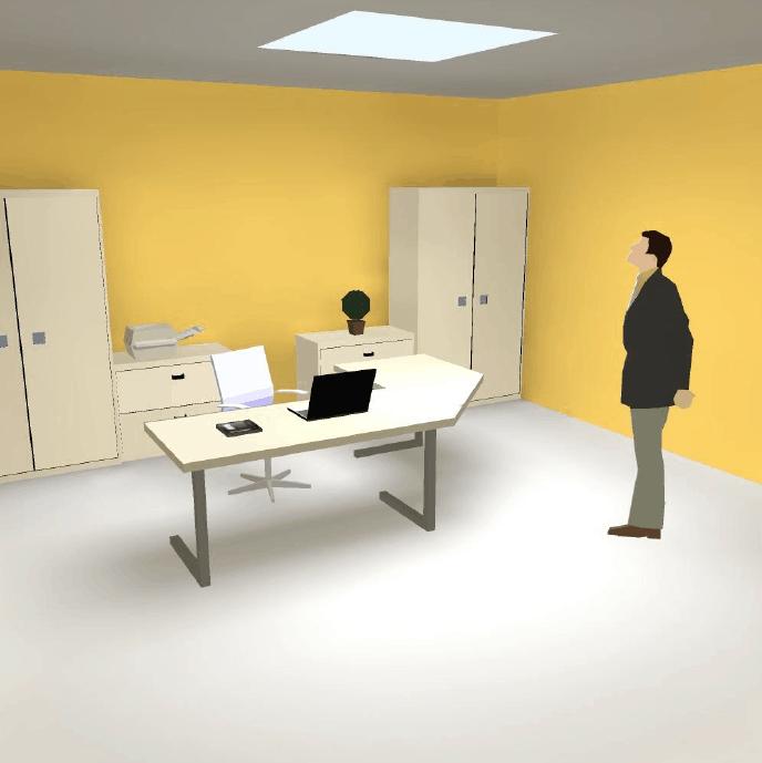 estudio luminico despacho- claraboya F100
