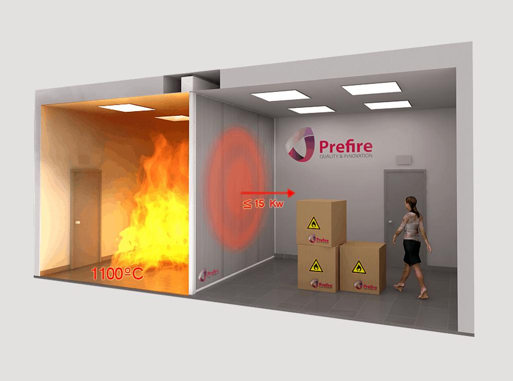 ¿Sectorización de incendios con clasificación «EI» se puede sustituir por clasificación «EW»?
