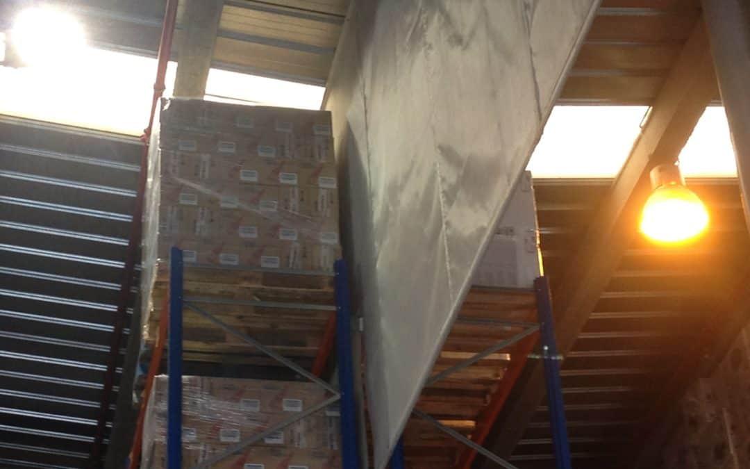 Sectorización de humos en un centro logístico en funcionamiento