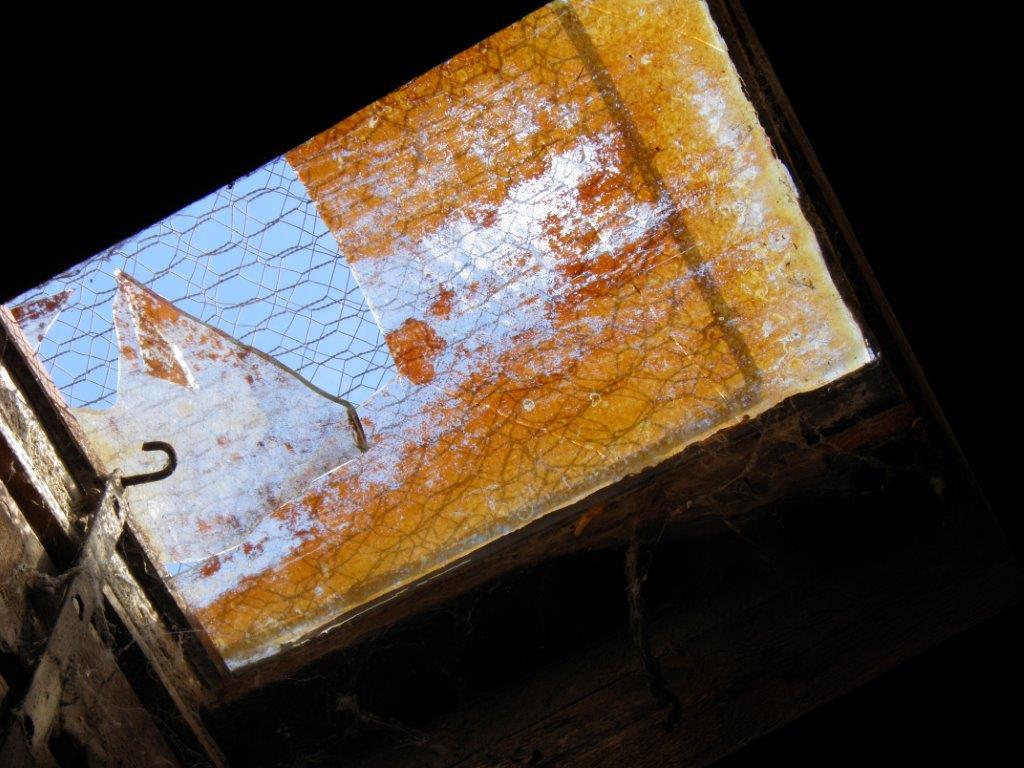 Claraboya o paso abierto para ventilar