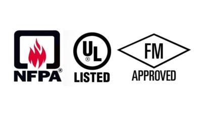 Sistemas y equipos de PCI con certificación UL y FM
